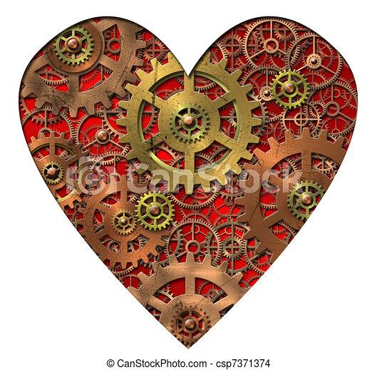 corazón, mecánico - csp7371374