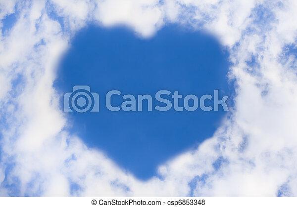 corazón, nube - csp6853348
