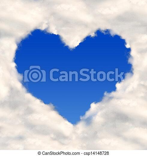 Corazón de nubes - csp14148728