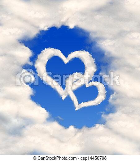 Corazón de nubes - csp14450798
