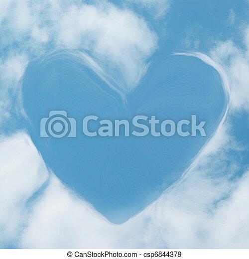 Corazón de nubes - csp6844379