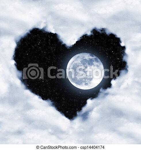 corazón, nubes - csp14404174