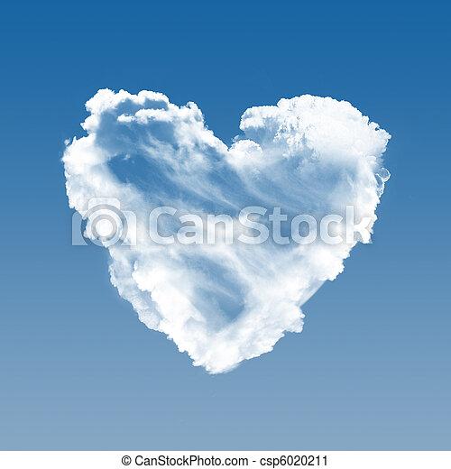 Corazón de nubes - csp6020211