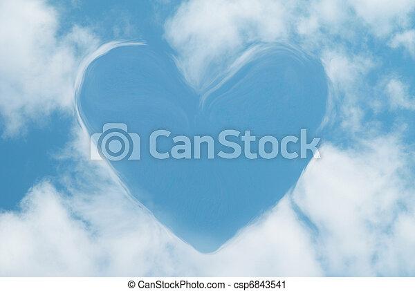 corazón, nubes - csp6843541