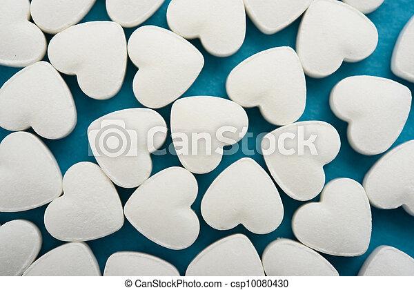 corazón, píldoras - csp10080430