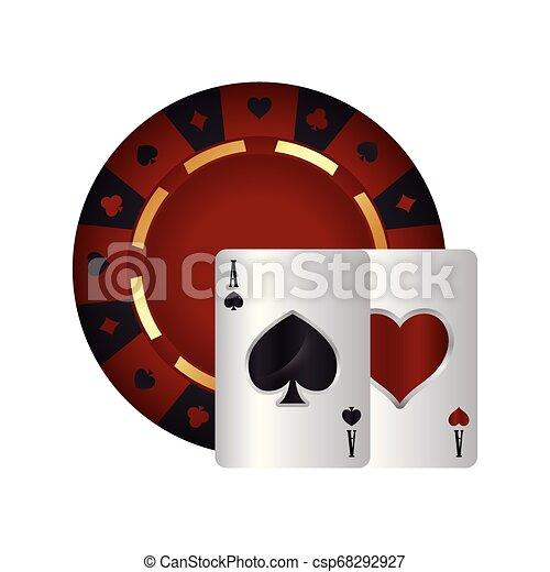 Tarjetas de poker casino as spade heart - csp68292927