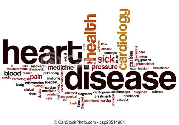 Nube de palabra de enfermedad del corazón - csp23514904