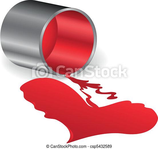 Corazón de pintura roja - csp5432589