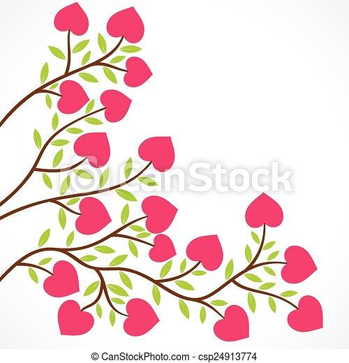 Corazón Planta Flor D Colorido Forma Corazón Planta Flor
