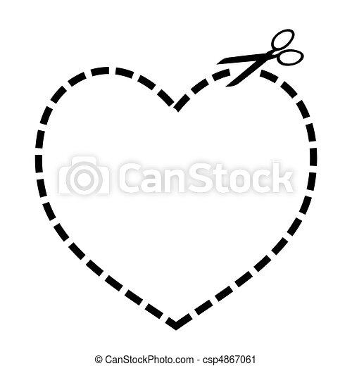 Cortar el corazón - csp4867061