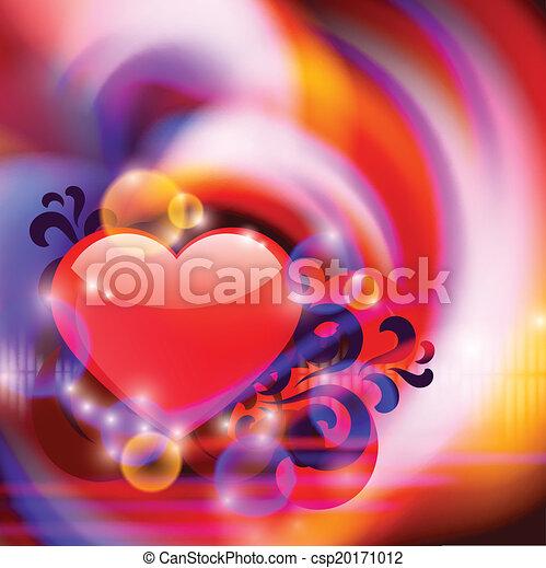 Trasfondo abstracto con corazón - csp20171012