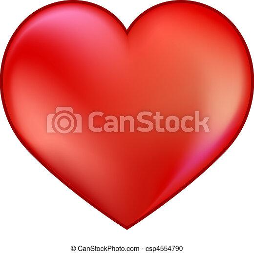 Corazón rojo - csp4554790