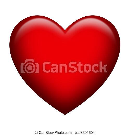 Dibujo de corazn rojo  A solo forma corazn con brillante