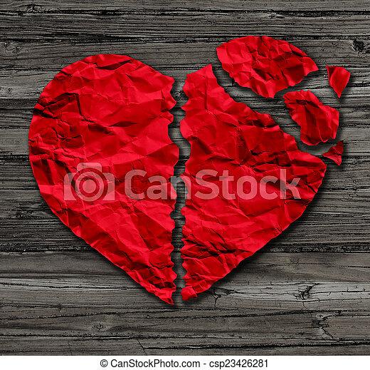 corazón roto - csp23426281