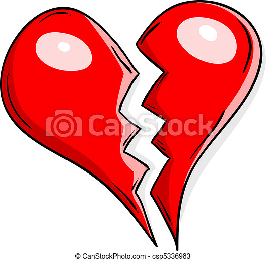 Corazón Roto Corazón Aislado White Roto
