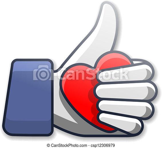 Como símbolo de ícono con corazón - csp12306979