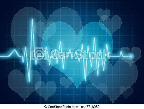 corazón, símbolo, salud - csp7718950
