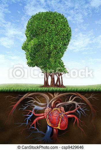 Corazón sano y mente - csp9429646