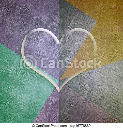 Tarjeta del corazón transparente - csp16776869