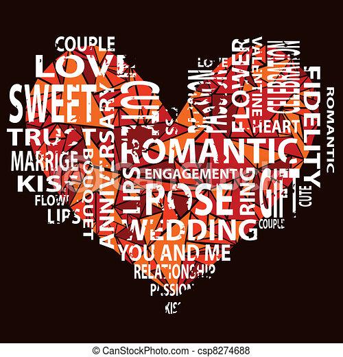Corazón con texto - csp8274688