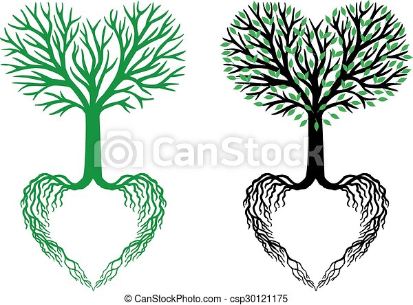 Corazón Vector árbol Vida árbol Corazón Vida Ramas Formado