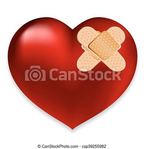 Corazón con yeso - csp39255982