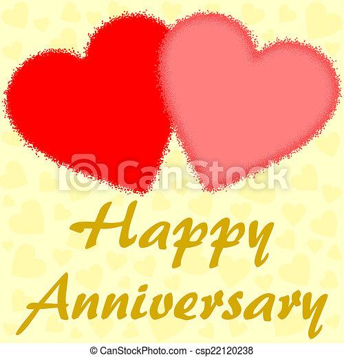 Feliz Aniversario Con Dos Corazones Feliz Aniversario Con
