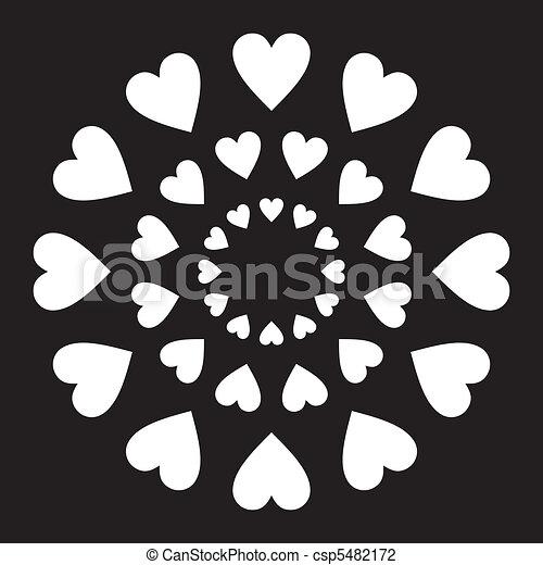 Corazón de amor en círculo - csp5482172