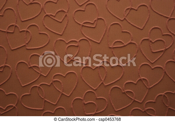 Corazones de chocolate - csp0453768