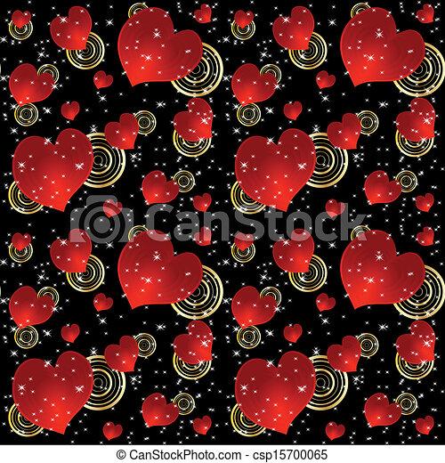 Corazones Plano De Fondo Seamless Estrellas Rojo Pauta Fondo