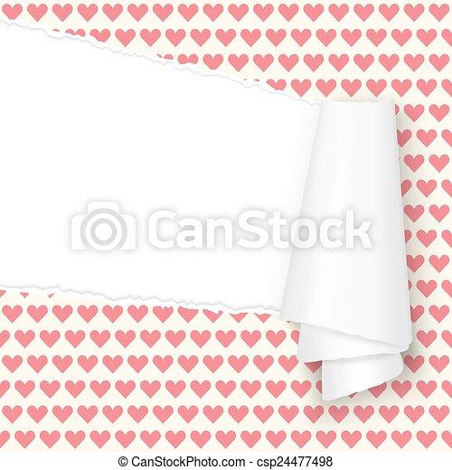 Corazones de papel abiertos - csp24477498