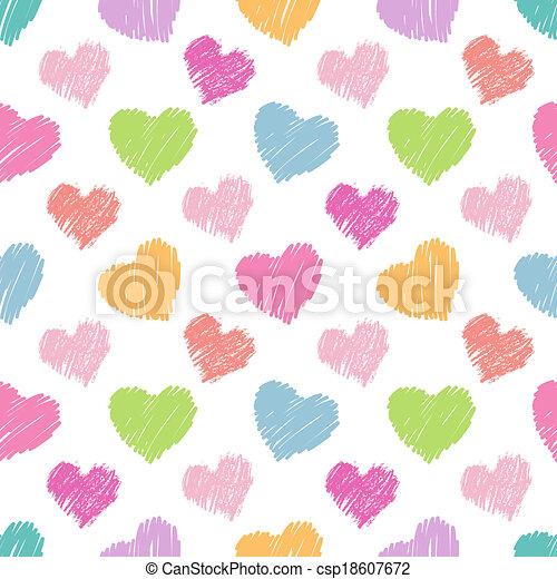 Patrón de corazones sin costura - csp18607672