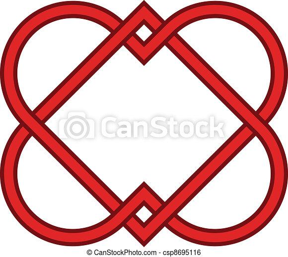 Vector ligado a corazones - csp8695116