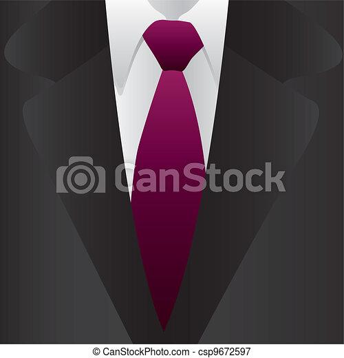 Traje formal y corbata - csp9672597