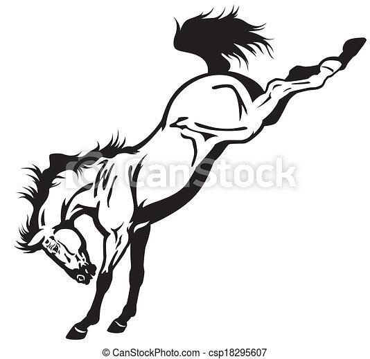Un caballo - csp18295607