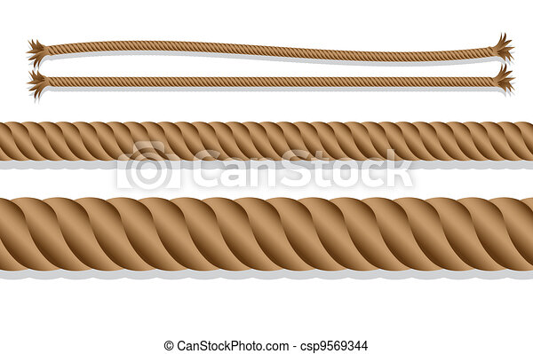 corda, caricatura, trançado - csp9569344