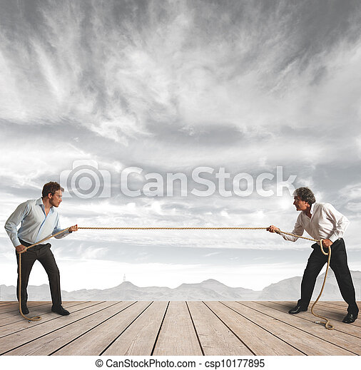 corda, homem negócios, desafio - csp10177895