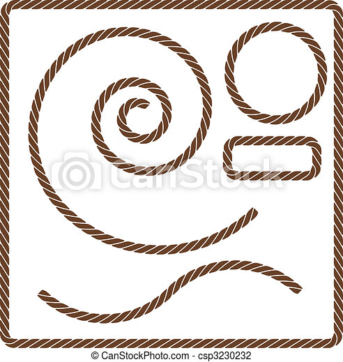 corda, marrom, jogo - csp3230232