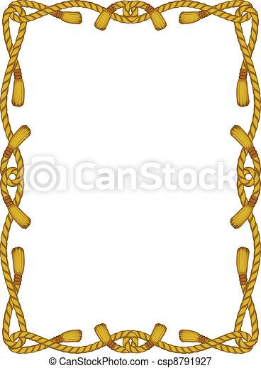 corda, quadro, branca, isolado - csp8791927