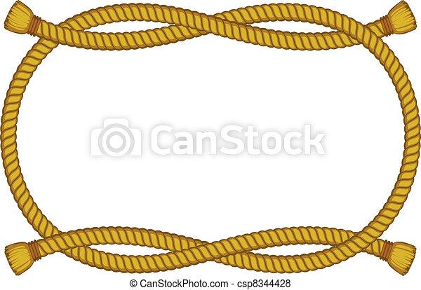 corda, quadro, branca, isolado - csp8344428