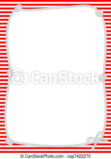 corde, noué, frontière, nautique - csp7422270