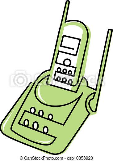 cordless phone rh canstockphoto com Phone Base cordless phone clipart