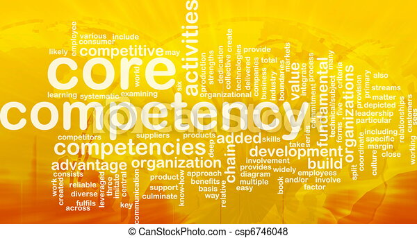 Core competency word cloud - csp6746048