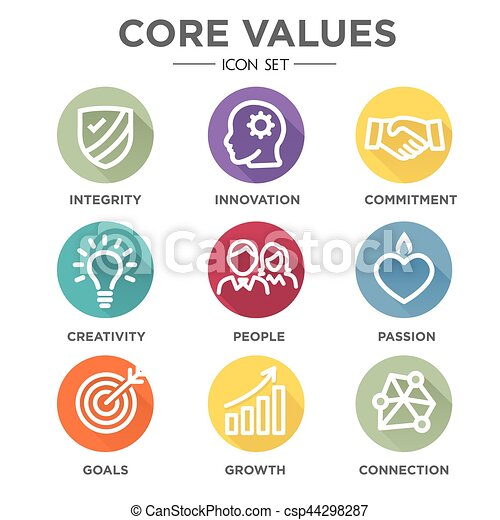 Core Values Round Multi Colored - csp44298287