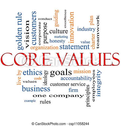Core Values Word Cloud Concept - csp11058244