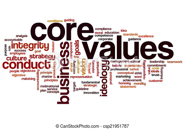 Core values word cloud - csp21951787