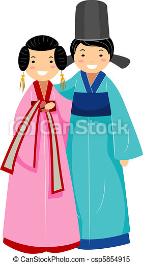 Una pareja coreana - csp5854915