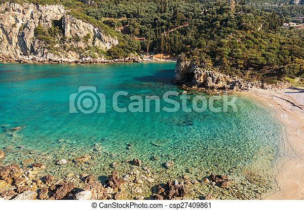 corfu, costa - csp27409861