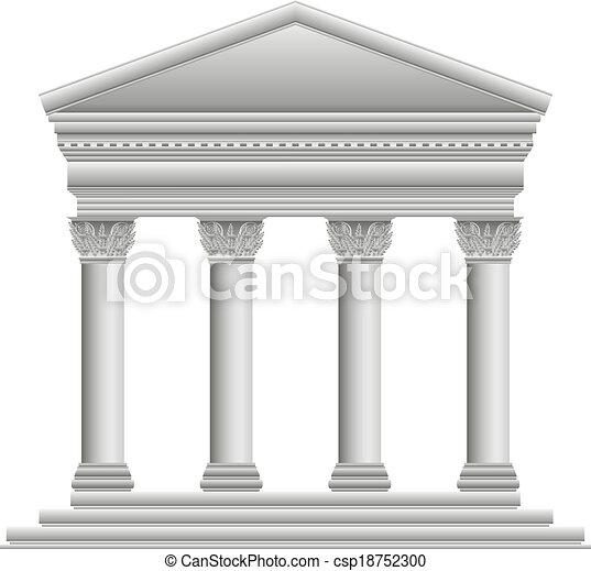 corinthian, 寺院, ギリシャ語 - csp18752300