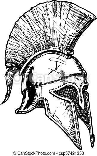 08c9baba8 Vector vintage engraved illustration of corinthian helmet ? the most ...